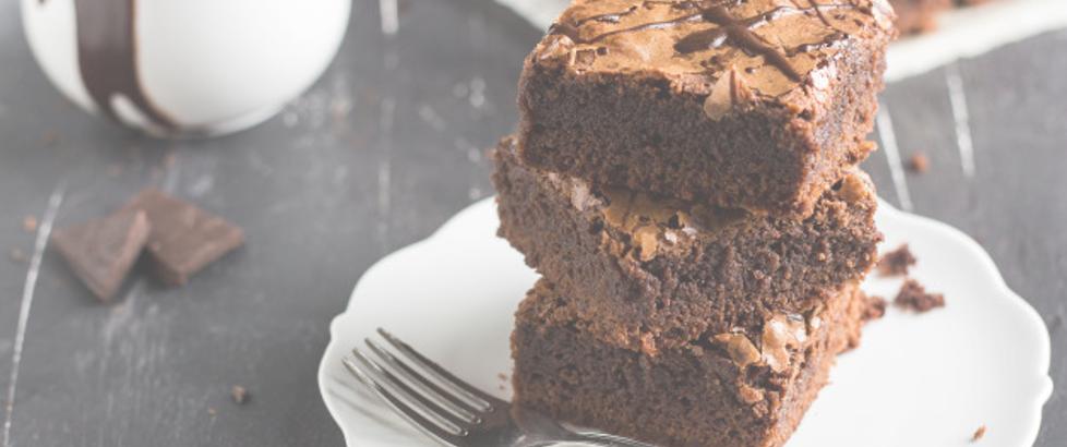 Receta brownies maple