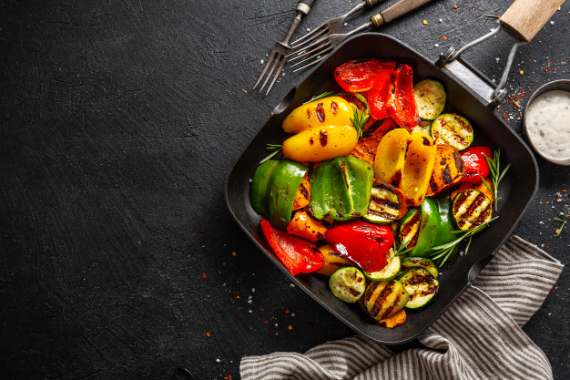 Grilled Balsamic Maple Vegetables