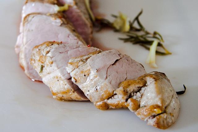 Pork Tenderloin Marinated in Maple Syrup and Dijon Mustard