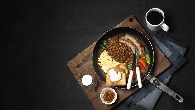 Maple Baked Beans and Smoked Ham
