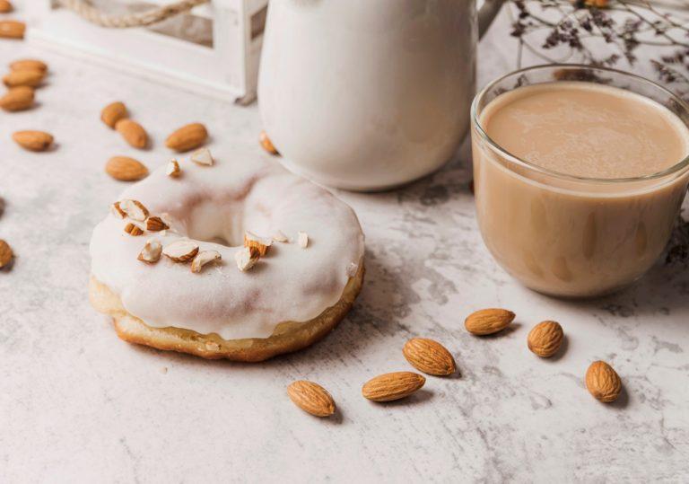 Chocolate and maple almond milk