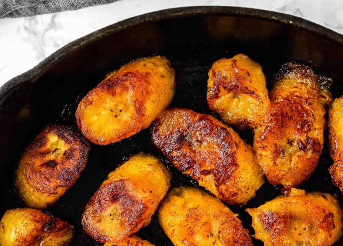 Grilled maple plantains