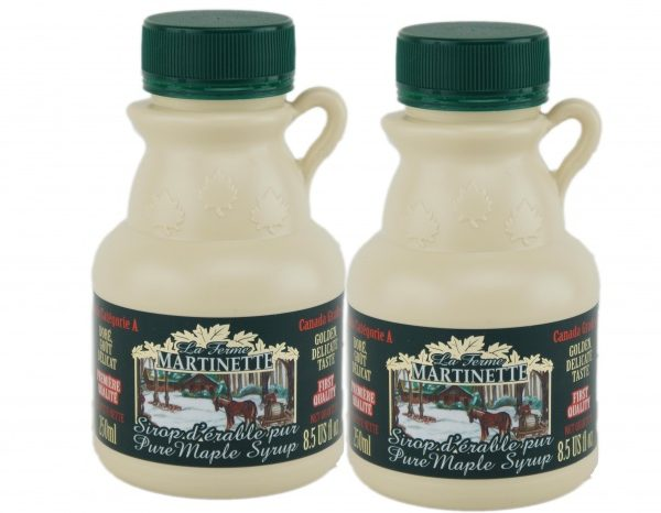 Pure Maple syrup 2x 250ml Jugs- CANADA A- Golden, Delicate Taste