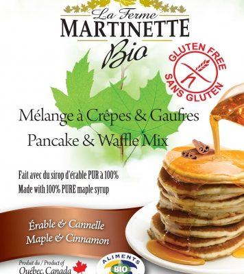 GLUTEN FREE ORGANIC Maple-Cinnamon 250g Pancake & waffle mix