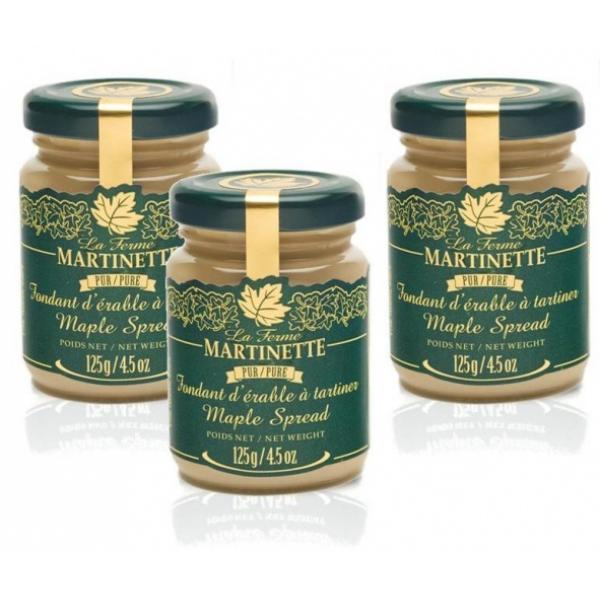 Pure Maple Spread – 3 x 125 g  Glass jars