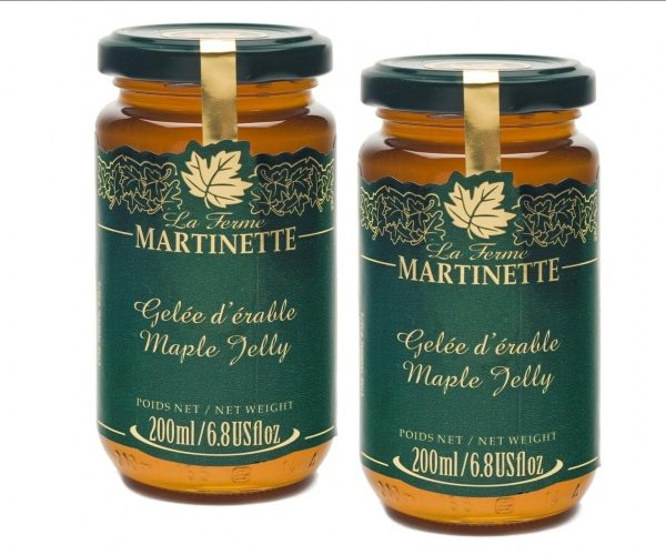Maple jelly 2 x 200 ml -Glass jars