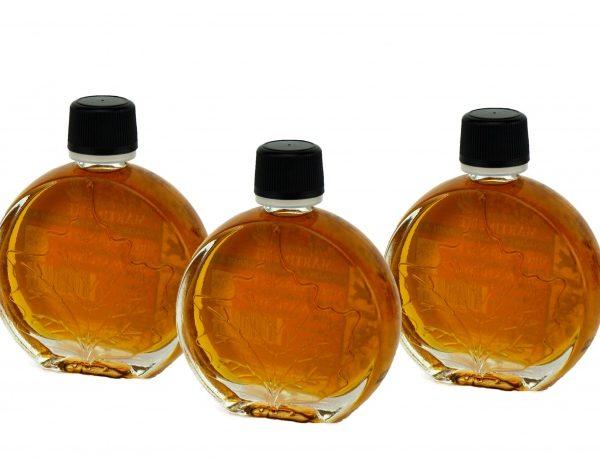 O CANADA- Pure maple syrup -Amber, Rich taste 3x50ml- Medallion leaf
