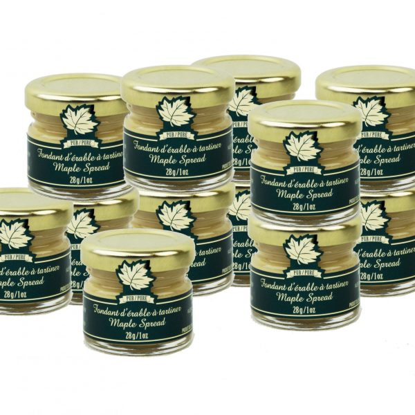 Pure Maple Spread – 12 x 28g/1oz – Mignons Glass jars