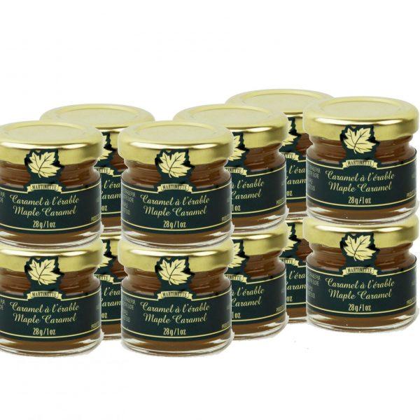 Maple Caramel- 12 x 28g/1oz – MIGNONS Glass jars