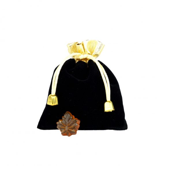 Clear hard maple syrup candies -50g Fancy BLACK bag