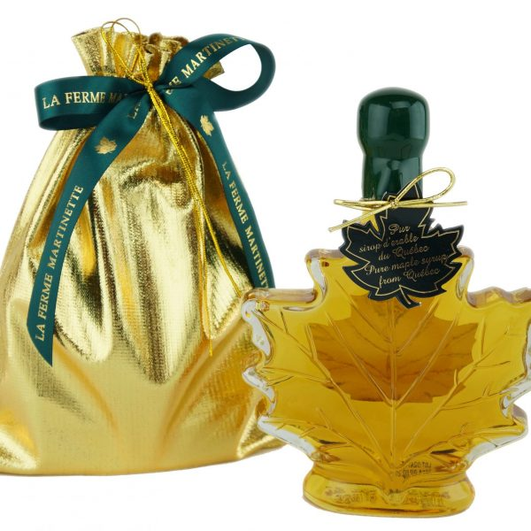 Pure maple syrup CANADA A- Golden, Delicate Taste 250ml -Maple leaf in a gift Gold bag