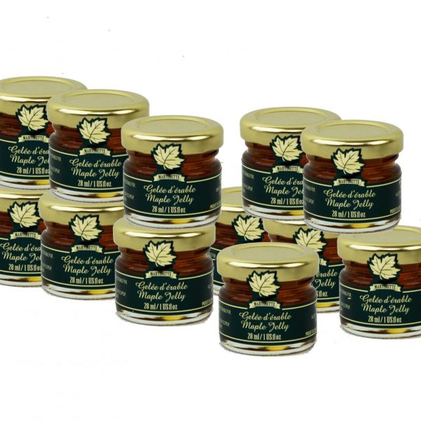 Maple Jelly- 12 x 28ml/1oz – MIGNONS Glass jars