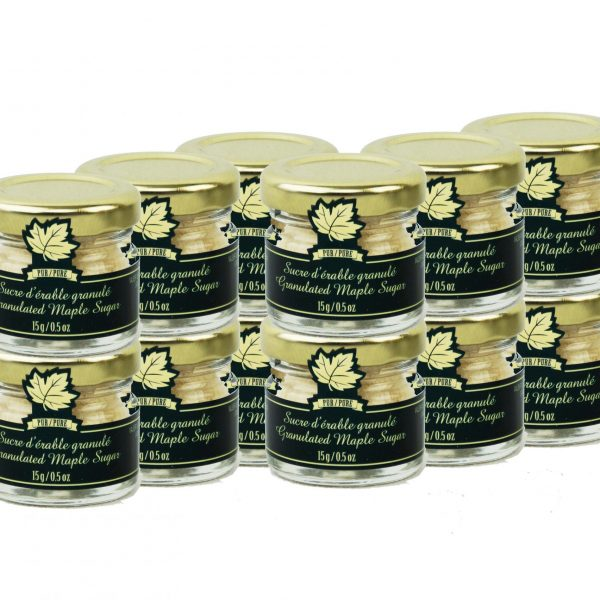 Pure maple sugar FINE 12 x 15g- Mignons
