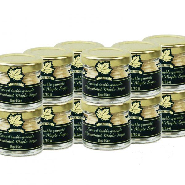 Pure maple sugar FINE 12 x 15g- Mignons