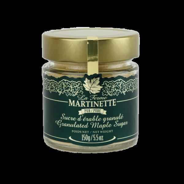 Pure granulated maple sugar FINE – 5.5 oz / 150 g  jar