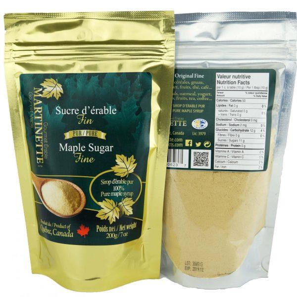 Pure maple sugar FINE 200g bag