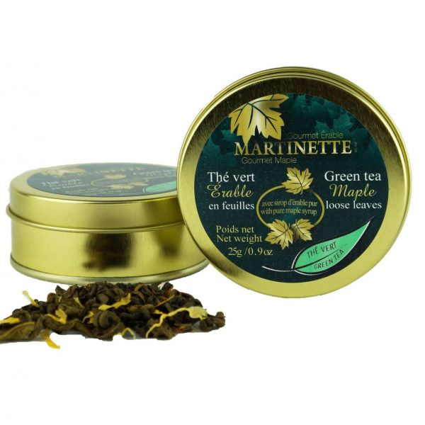 Maple Green Tea 25g – Loose leaves Tin