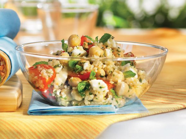 Maple-Flavoured Quinoa Salad with Feta and Mint