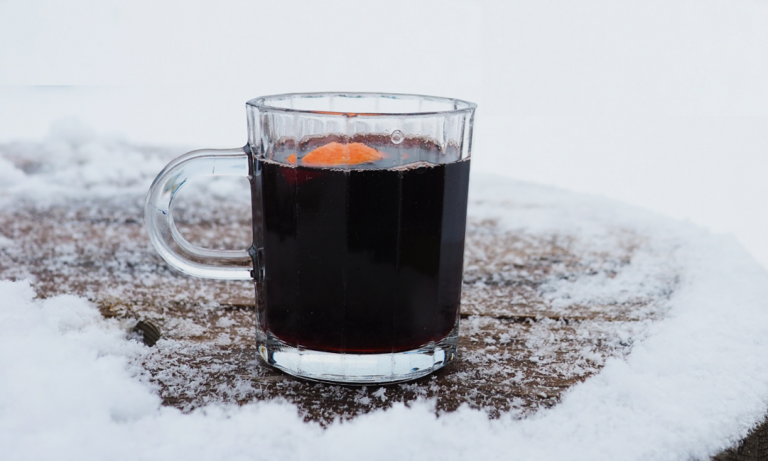 Mulled maple wine