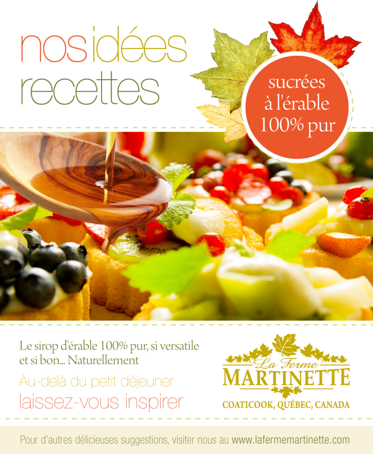 Our recipes' leaflet