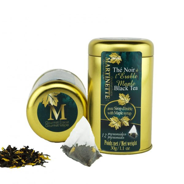 Maple Tea -12 pyramid bags in a tin 30g