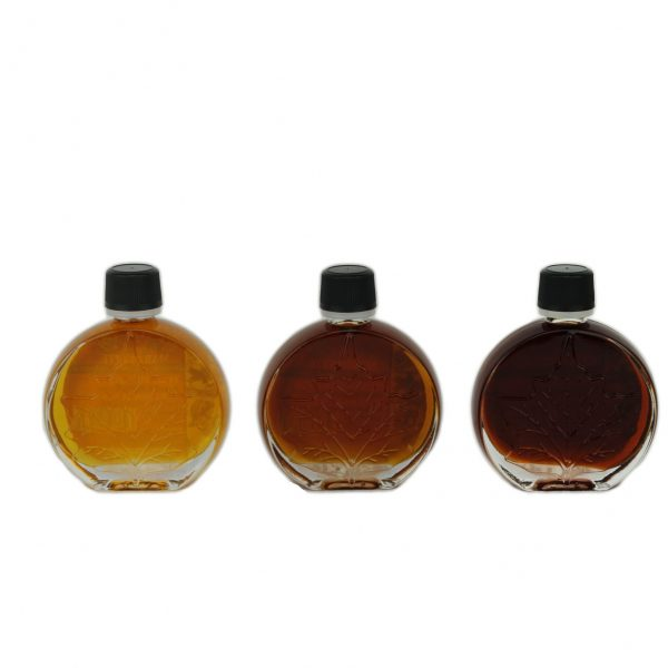 O CANADA- Pure maple syrup -3 categories x 50ml -Medaillons leaf