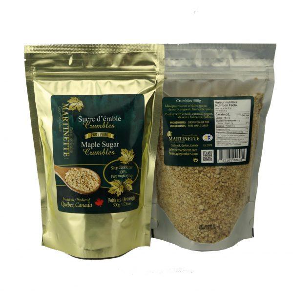 Pure maple sugar- Crumbles 500g Bag