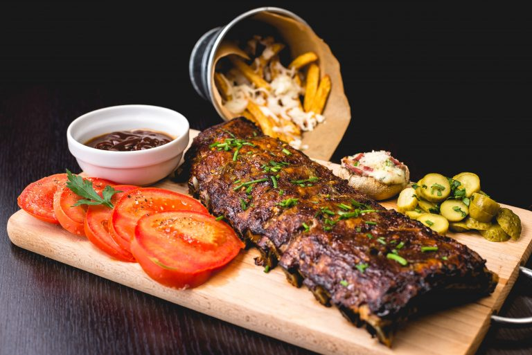 Spare Ribs with Maple Syrup
