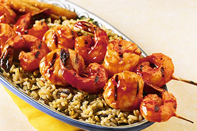 Maple-Orange Shrimp & Scallop Kebobs