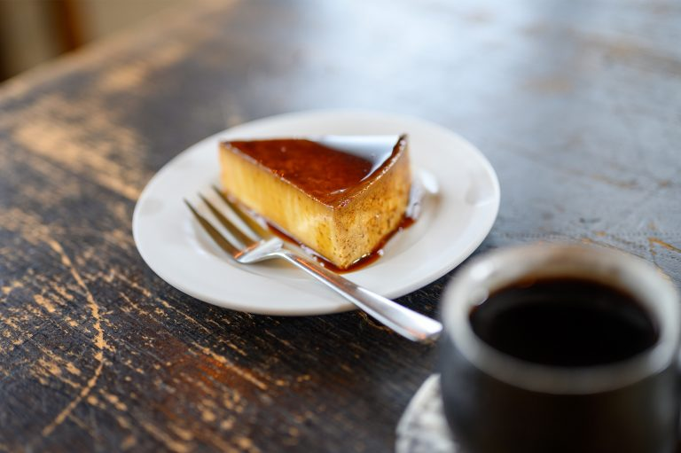 Custard with maple syrup