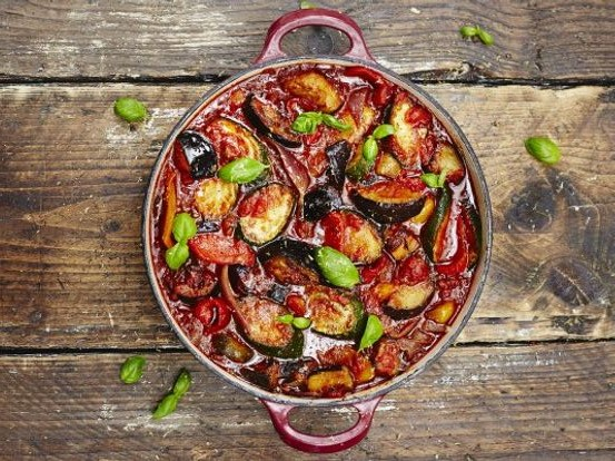 Squash Ratatouille with Maple Syrup