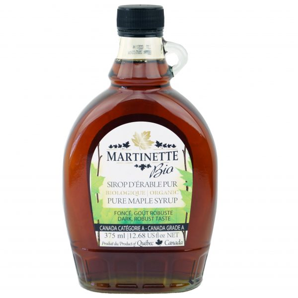 ORGANIC Pure maple syrup 375ml CANADA A- Dark, Robust Taste
